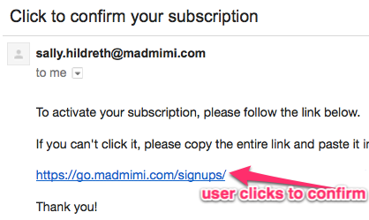 Here's an example of a Mad Mimi Double opt in Confirmation link