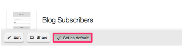 default email marketing web form final display