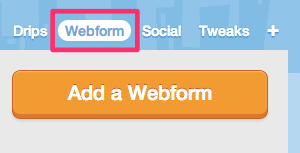 Creating new webforms, step 1
