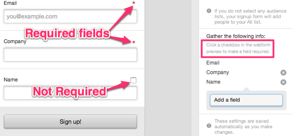 making fields required in your webform