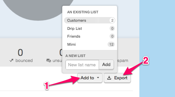 View lists from stats - export and list sorting options