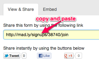Share form Link