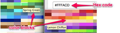 Opciones de color personalizado