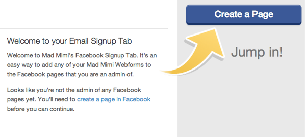 Facebook Signup No Active Pages
