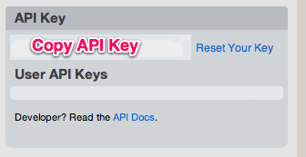 Find your Batchook API key in the preferences page