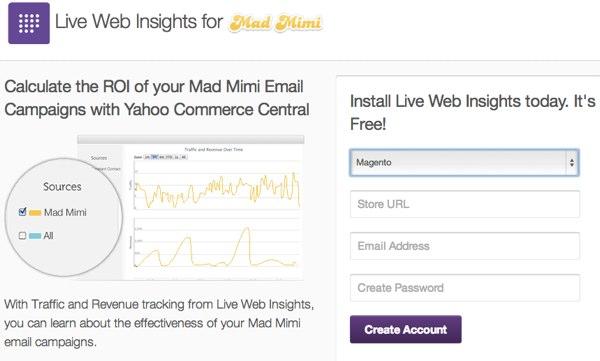 Live Web Insights ecommerce platform