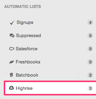 Highrise list, ready for email marketing!