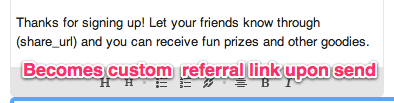 email marketing referral code