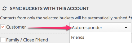 Connect Contactually CRM buckets with email marketing lists