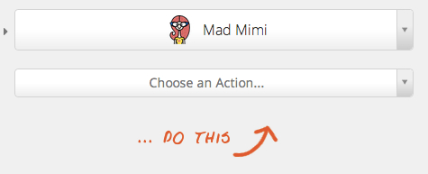 Sync your email list with Mad Mimi and Zapier step 1