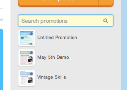 search field on Mad Mimi Dashboard