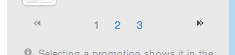 page numbers and arrows in sidebar on Mad Mimi dashboard