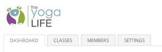 Dashboard tab on StudioBookings page